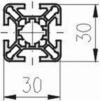 1.11.030030.43LP - aluminium Profiel 30x30 4F LP - tekening