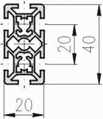 1.10.020040.64LP - aluminium Profiel 20x40 6H LP - tekening