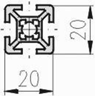 1.10.020020.43LP - aluminium Profiel 20x20 4H LP - tekening