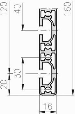 1.09.016160.44LP - aluminium Profiel 16x160, 4E, LP - tekening - tekening