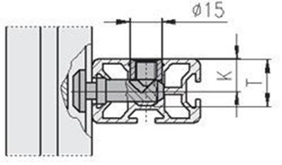 1.21.2/3E5 - Parallel verbinder universeel dwars, 20/30-E Ø12