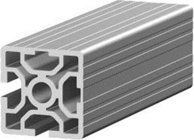 1.11.050050.22S - aluminium Profiel 50x50, 2E Soft S