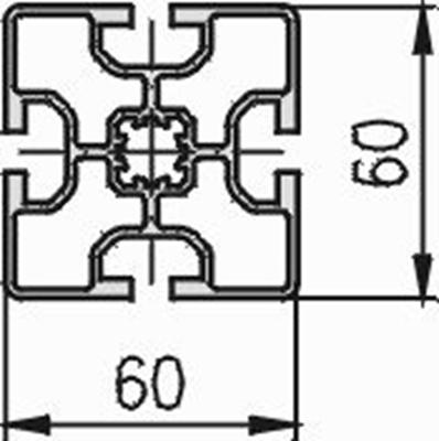 1.11.060060.43LP - aluminium Profiel 60x60 4E LP - tekening