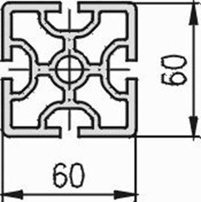 1.11.060060.43SP - aluminium Profiel 60x60 4E SP - tekening