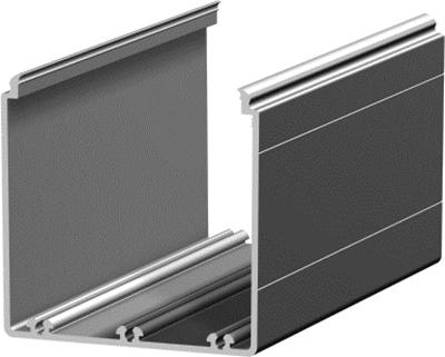 1.19.208080G - aluminium E-kanaal profiel 80x80