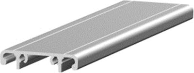 1.19.2040D - aluminium E-kanaal profiel, deksel 40