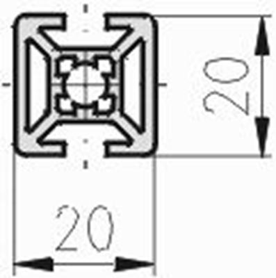 1.10.020020.23LP - aluminium Profiel 20x20 2H LP