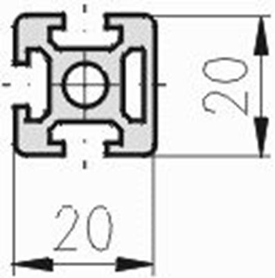 1.10.020020.33SP - aluminium Profiel 20x20 3H SP