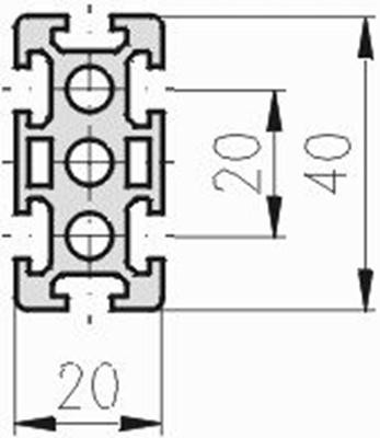 1.10.020040.64SP - aluminium Profiel 20x40 6H SP
