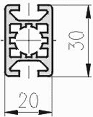 1.11.020030.24LP - aluminium Profiel 20x30 2F LP