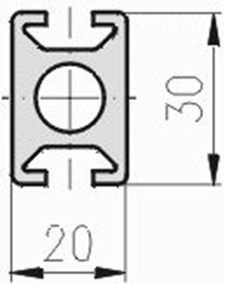 1.11.020030.24SP - aluminium Profiel 20x30 2F SP