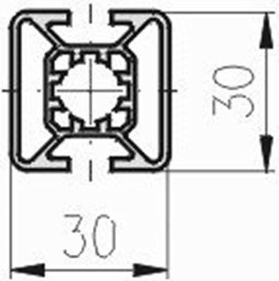 1.11.030030.23LP - aluminium Profiel 30x30 2F LP