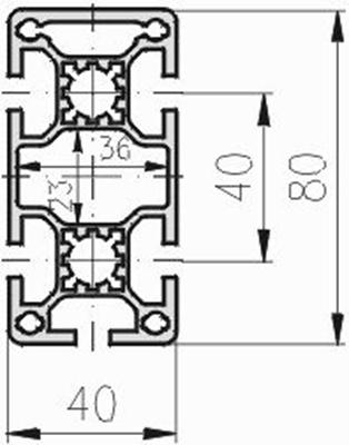 1.11.040080.54LP - aluminium Profiel 40x80 5E LP