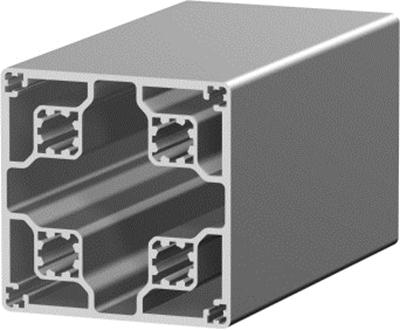 1.11.080080.03LP - aluminium Profiel 80x80 0E LP