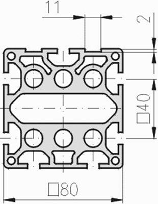 1.11.080080.79SP - aluminium Profiel 80x80 7E SP