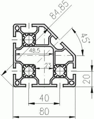 1.11.080080.78LP - aluminium Profiel 80x80 7E LP