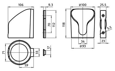 3.19-01 / 3.19-02 - Bekerhouder met open of dichte bodem