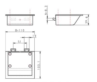 3.19-10 - Assemblage of opbergbakje - 110x105x40