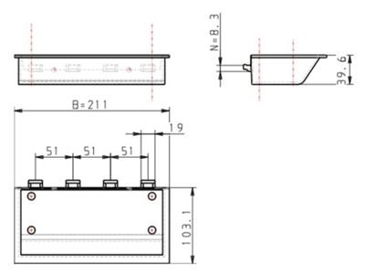 3.19-11 - Assemblage of opbergbakje - 210x105x40