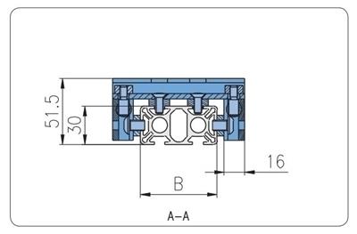 1.67.S102.030150F - Eco-Slide PG 30 - 150F met hendel