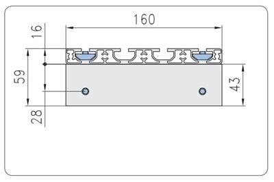 1.67.S102.045090E- Eco-Slide PG 45 - 90E met hendel
