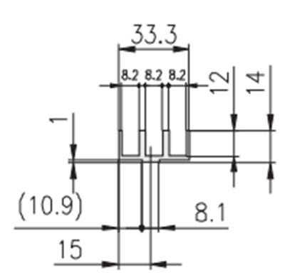 1.19.15133 - Schuifprofiel 33x14