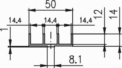 1.19.15150 - Schuifprofiel 50x14