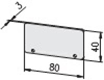 1.19.208040G - aluminium E-kanaal Eindkap 80x40 - tekening