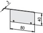 1.75.2080402 E-kanaal eindkap 80x40