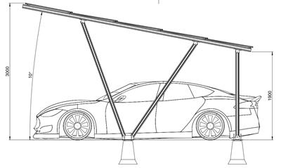 Zonnepanelen Carport - 2A-XL
