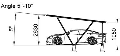 Zonnepanelen Carport - 3A-L