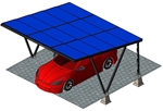 Zonnepanelen Carport 1A-XL